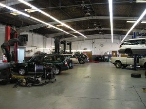 Inside  T.L. Tillett's Automotive Inc, subaru repair at Santa Rosa CA